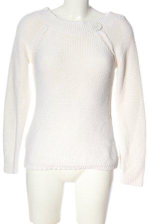 Promod Szydełkowany sweter biały W stylu casual