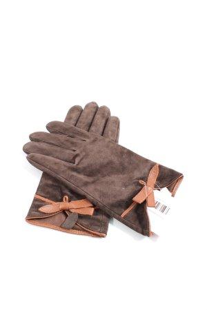 Promod Handschoenen van imitatieleder bruin zakelijke stijl