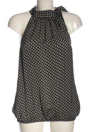 Promod Blusa-camisa negro-blanco estampado repetido sobre toda la superficie