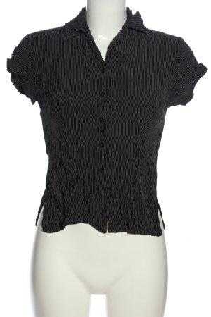 Promod Hemd-Bluse schwarz Streifenmuster Casual-Look