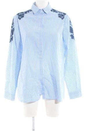 Promod Hemd-Bluse blau Streifenmuster Business-Look