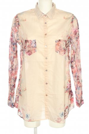 Promod Hemd-Bluse creme-pink Allover-Druck Casual-Look