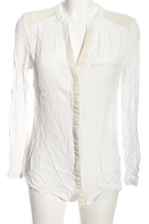 Promod Hemd-Bluse wollweiß Business-Look