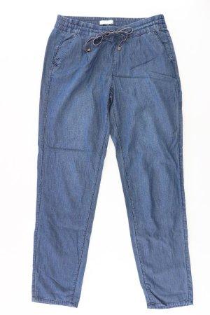 Promod Trousers blue-neon blue-dark blue-azure cotton