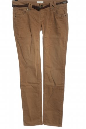 Promod Low-Rise Trousers brown casual look