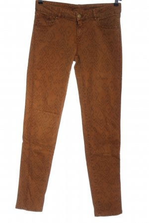 Promod Low-Rise Trousers brown-black allover print casual look