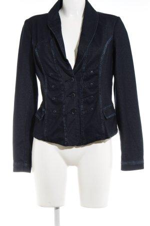 Promod Jeansblazer dunkelblau-graublau Webmuster Casual-Look