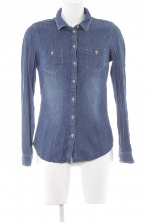 Promod Jeanshemd stahlblau Jeans-Optik