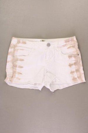 Promod Jeansshorts Größe 34 mit Batikmuster weiß aus Baumwolle