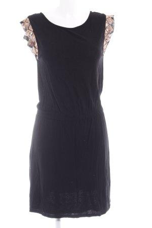 Promod Jerseykleid schwarz-bronzefarben Casual-Look