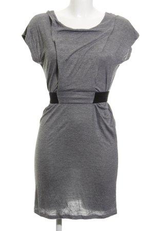 Promod Jerseykleid silberfarben-schwarz Casual-Look