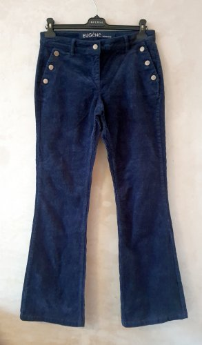 Promod Corduroy Trousers dark blue