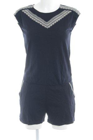 Promod Jumpsuit dunkelblau-creme Casual-Look