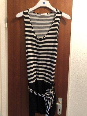 Promod Jumpsuit kurz schwarz weiss gestreift