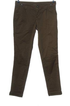 Promod Pantalón de color caqui marrón look casual