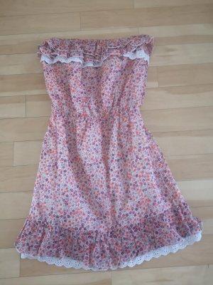 promod Kleid 34 Xs neuwertig rot bunt