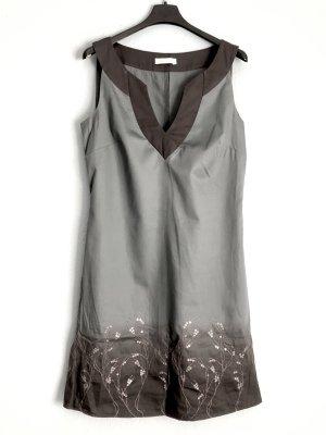 Promod Balloon Dress pale blue-grey brown