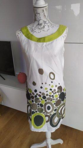 Promod Kleid Weiß grün Gr. 36 Super Zustand Kaum getragen
