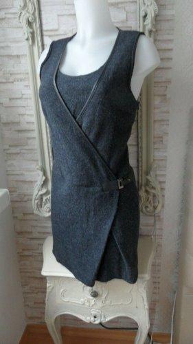 Promod Kleid Wolle Gr. 40 , Grau Wollkleid Edel & Modern