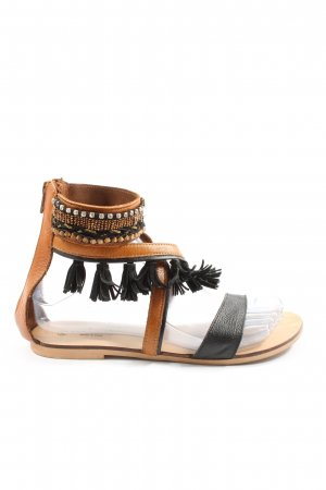 Promod Komfort-Sandalen braun-schwarz Casual-Look
