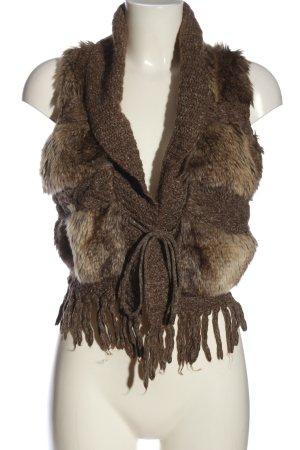 Promod Kamizelka ze sztucznym futrem brązowy W stylu casual