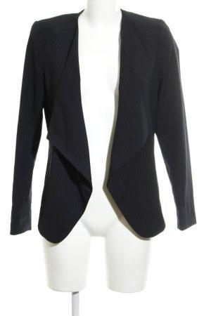Promod Kurz-Blazer dunkelblau-grau Nadelstreifen Business-Look