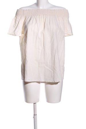 Promod Kurzarm-Bluse creme Casual-Look