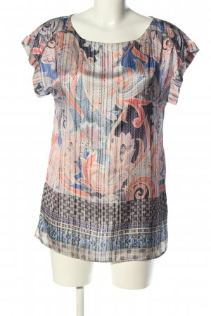 Promod Kurzarm-Bluse abstraktes Muster Casual-Look
