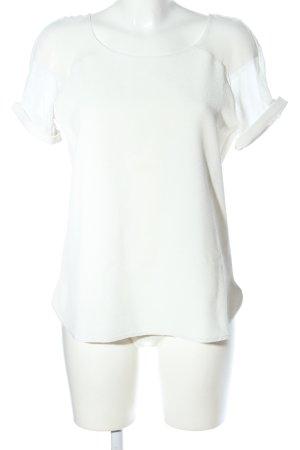 Promod Kurzarm-Bluse wollweiß Casual-Look