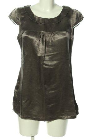 Promod Kurzarm-Bluse braun Elegant