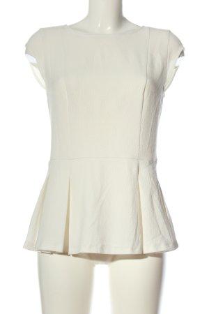 Promod Blusa de manga corta blanco puro elegante