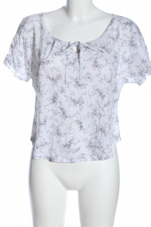Promod Kurzarm-Bluse Allover-Druck Casual-Look