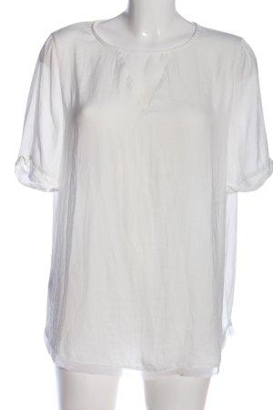 Promod Kurzarm-Bluse weiß Casual-Look
