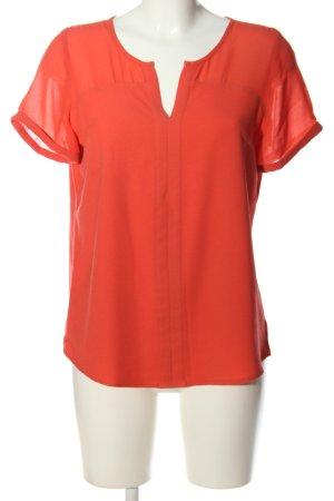 Promod Kurzarm-Bluse pink Casual-Look