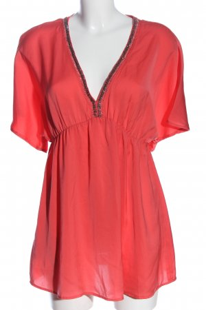 Promod Kurzarm-Bluse rot Elegant
