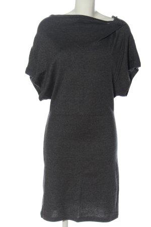 Promod Robe à manches courtes gris clair moucheté élégant