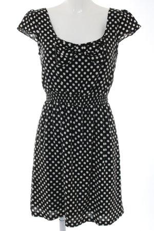 Promod Jurk met korte mouwen zwart-wit volledige print casual uitstraling