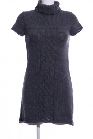 Promod Sukienka z krótkim rękawem niebieski Warkoczowy wzór