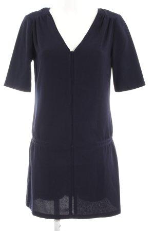 Promod Jurk met korte mouwen donkerblauw minimalistische stijl