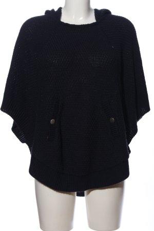 Promod Sweter z krótkim rękawem czarny Na całej powierzchni W stylu casual