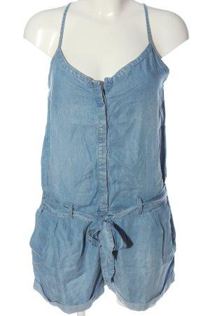 Promod Kurzer Jumpsuit blau Casual-Look