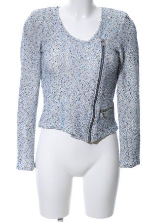 Promod Kurzjacke blau-weiß meliert Casual-Look