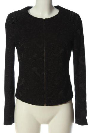 Promod Veste courte noir motif abstrait élégant
