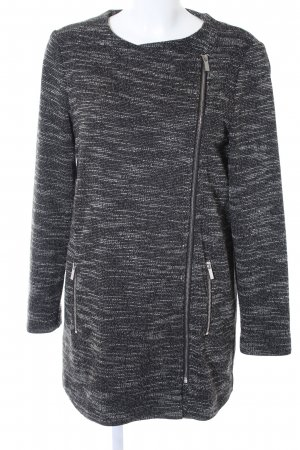 Promod Kurzmantel schwarz-weiß meliert Casual-Look