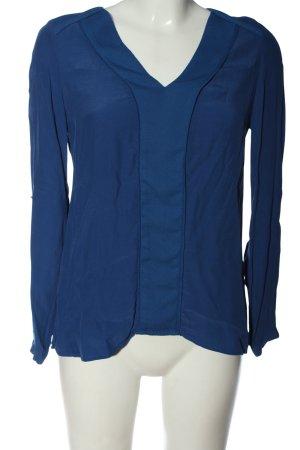 Promod Langarm-Bluse lila-blau Elegant