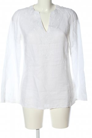 Promod Langarm-Bluse weiß Casual-Look
