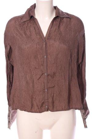 Promod Langarm-Bluse braun Casual-Look