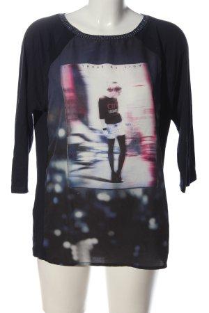 Promod Langarm-Bluse Motivdruck Casual-Look