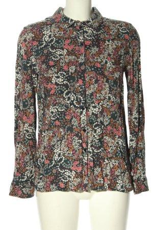 Promod Langarm-Bluse abstraktes Muster Business-Look