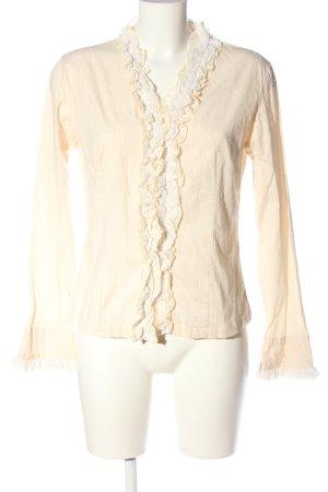 Promod Langarm-Bluse creme-weiß Casual-Look